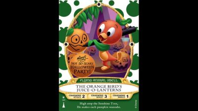 Orange Bird Sorcerers of the Magic Kingdom Card To Be Released at Mickey's Not-So-Scary Halloween Pa