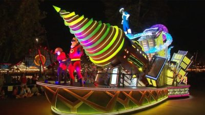 'The Incredibles' Float in 'Paint the Night' Parade at Disney California Adventure