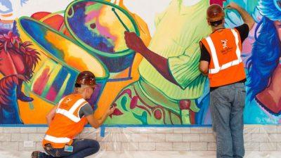 Centertown Market at Disney's Caribbean Beach Resort gets Hand-Painted Mural