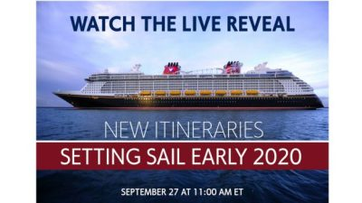 Disney Cruise Line to Unveil New Cruises in 2020 This Thursday