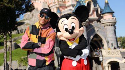 Neymar Kicks Off World's Biggest Mouse Party at Disneyland Paris