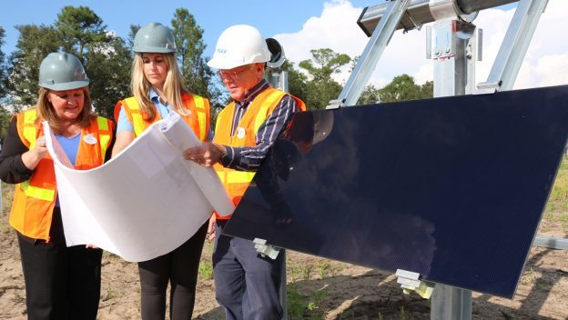 First Panel Installed at New Solar Facility Providing Power to Walt Disney World