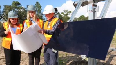 First Panel Installed at New Solar Facility Providing Power to Walt Disney World