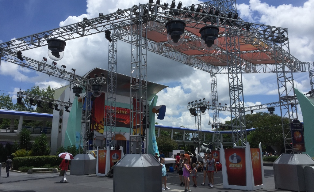 Canopy Added to Rockettower Plaza Stage at Magic Kingdom