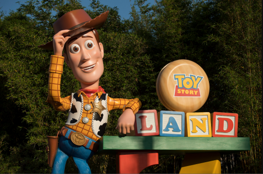 Woody Arrives in Toy Story Land at Walt Disney World Resort