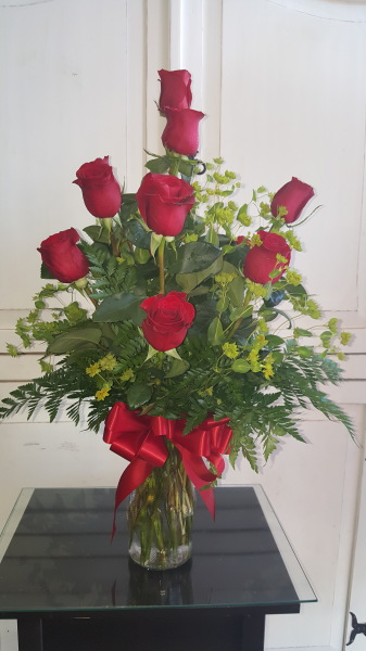 Long Stem Ecuadorian Red Roses.  $75.00