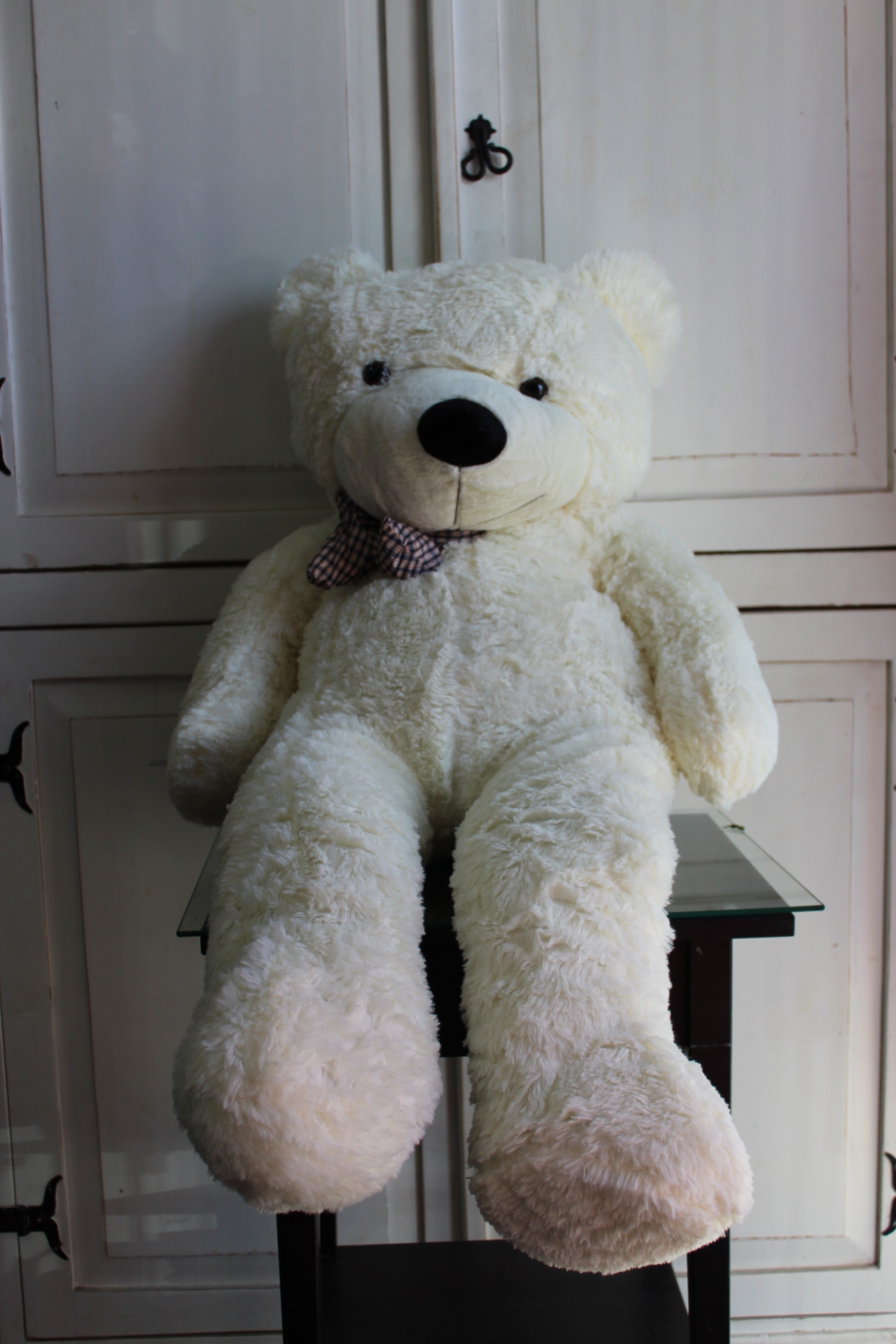 47` White color 1.2M Giant Huge Cuddly Stuffed Animal Plush Teddy Bear $85.00