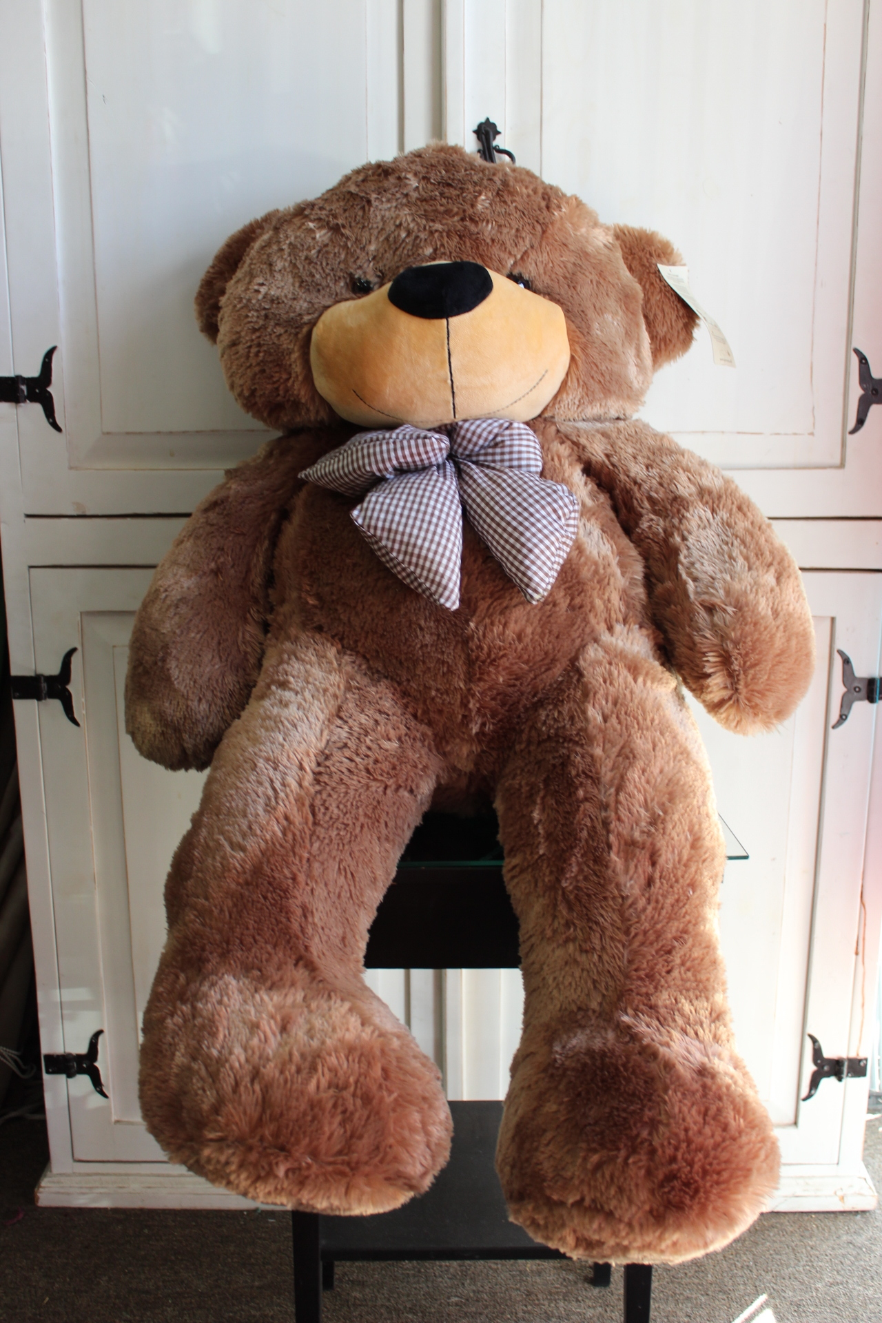 "47"" - Super Cute & Huggable, Mocha Colored Big Plush Teddy Bear.  $175.00"