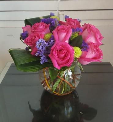 Bowl Of Pink Roses. GP-113 .$64.99