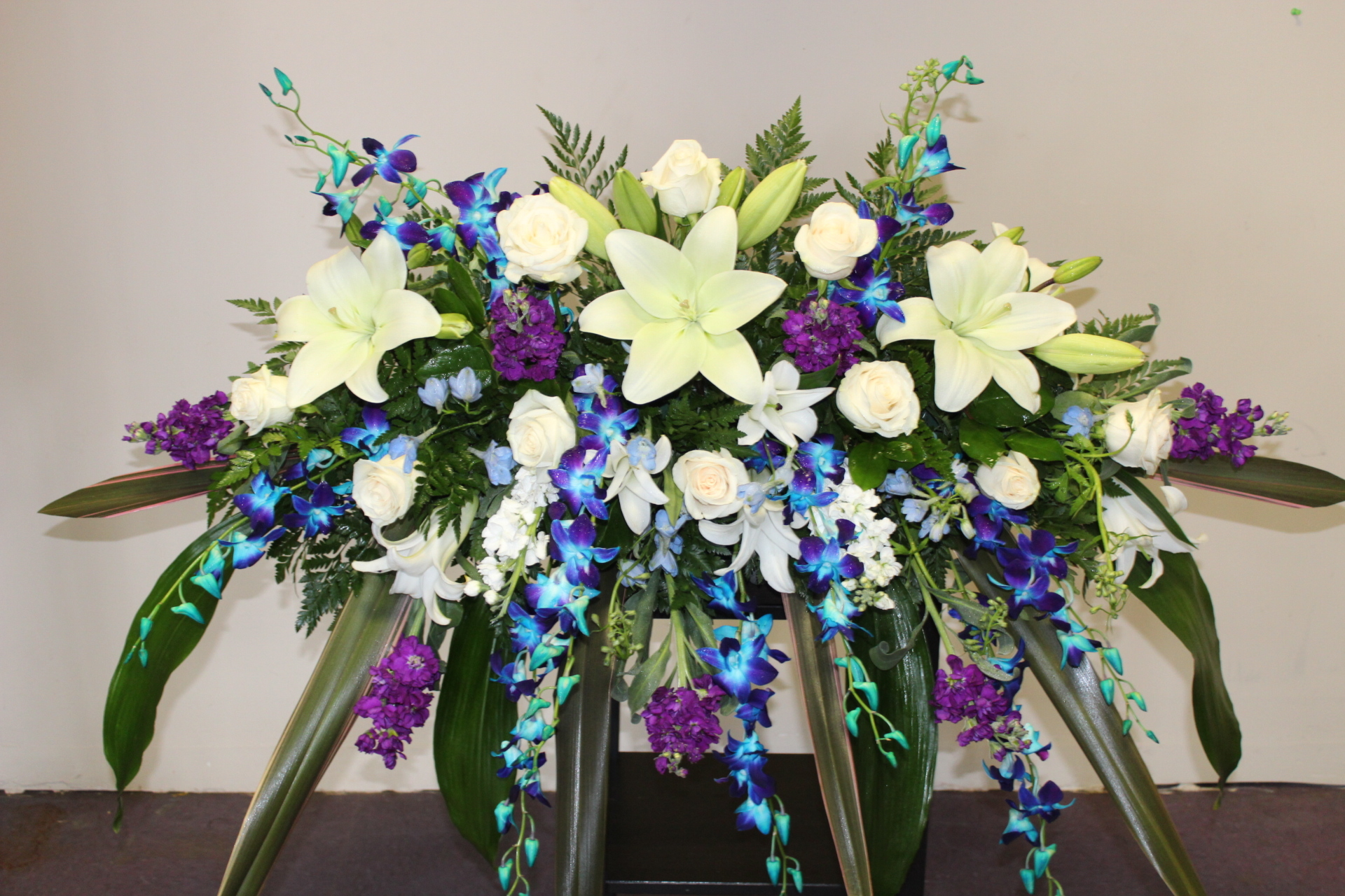 GP-951. Casket Cover With Orchids.$229.99