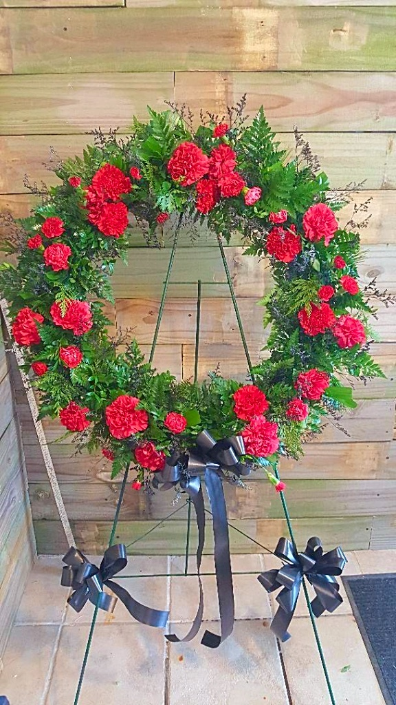 GP-976. CARNATION WREATH. $175.00