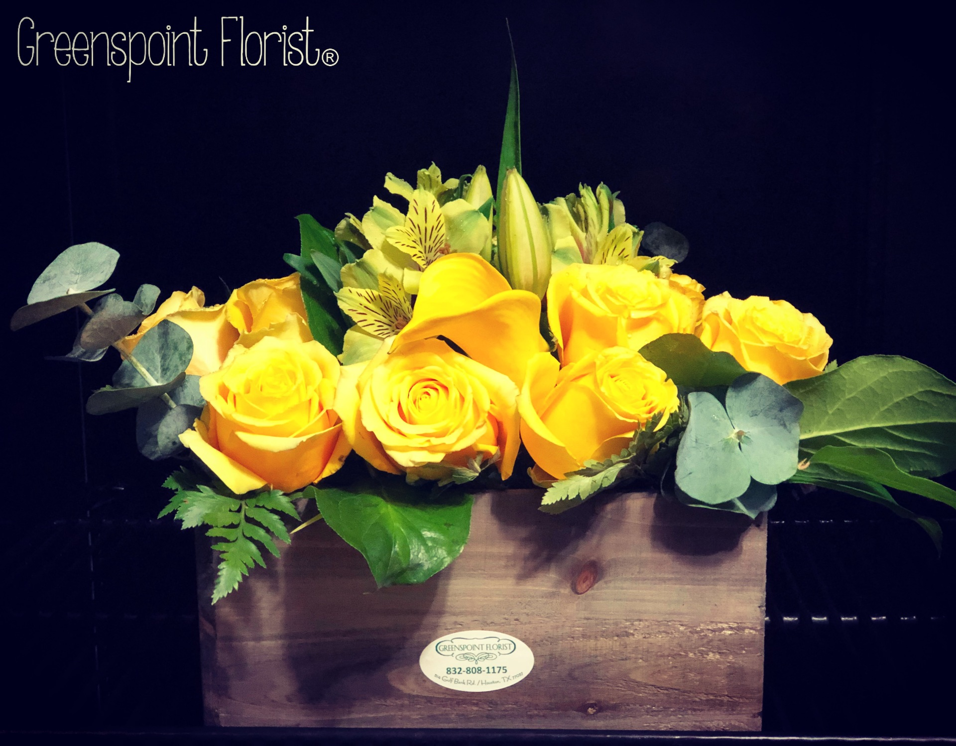 Yellow Roses in a Box. GP-362 .$84.99