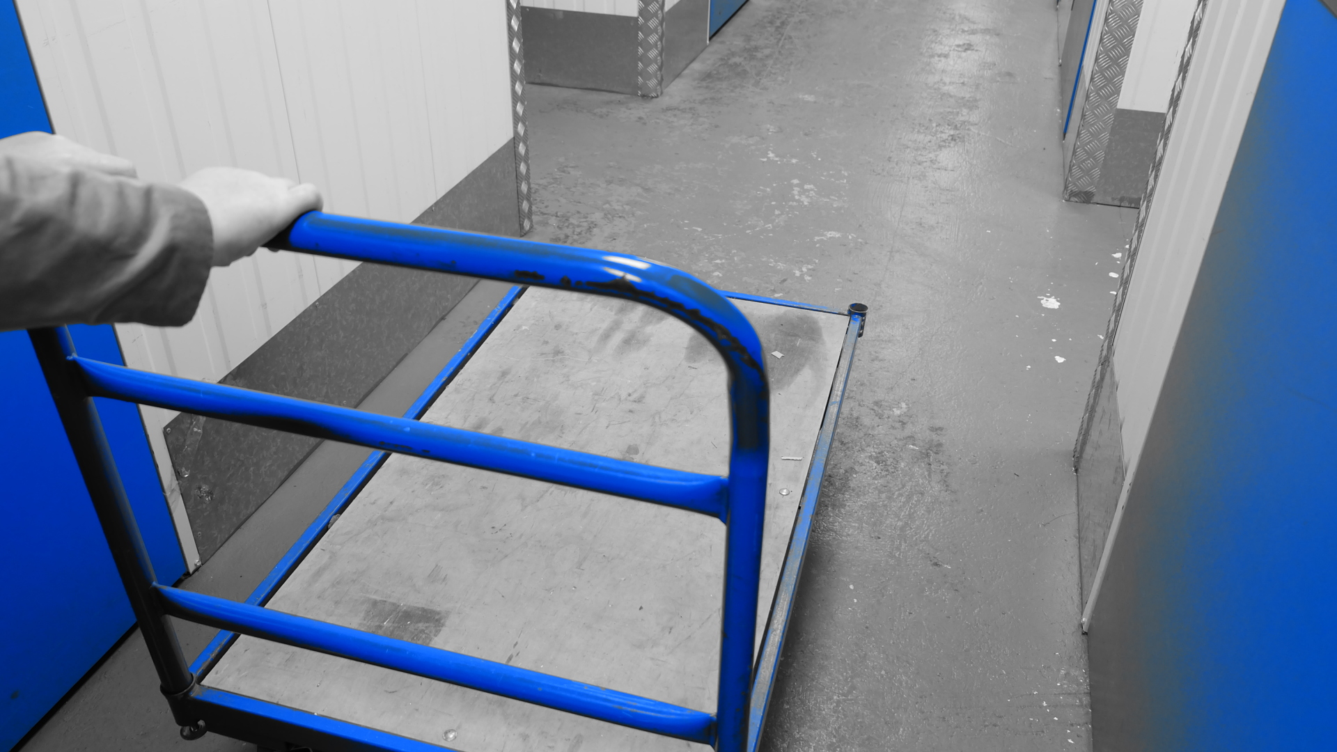 pallet sack truck in bojea self storage