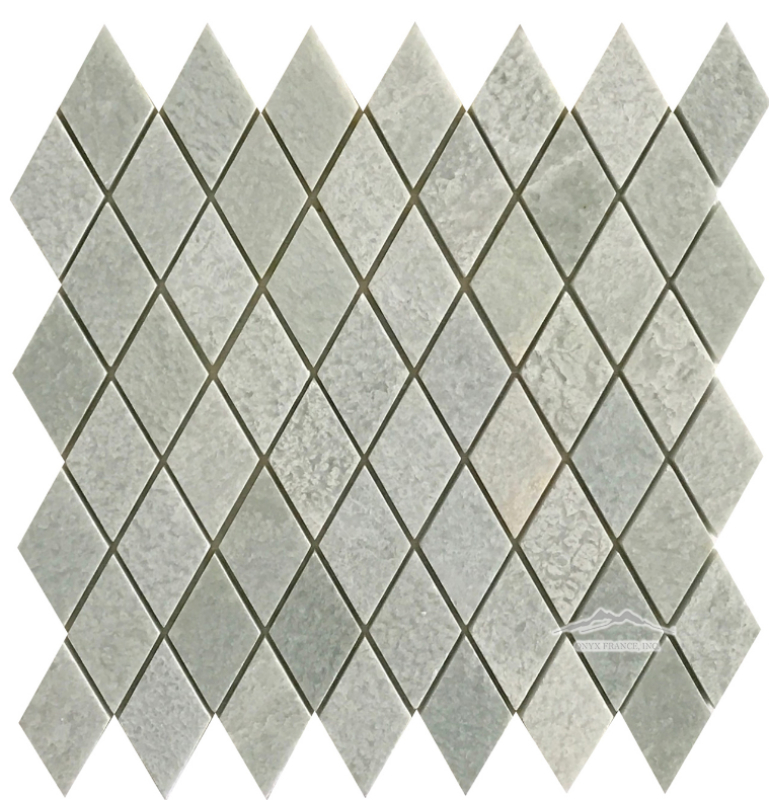 "Harlequin 1-3/8"" x 2-3/4"" Ming Green Marble Polished (Also Avail: Tumbled)"