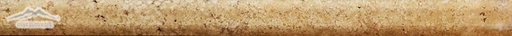 "Golden Antique Travertine Square Liner: 3/4"" x 12"" Honed Molding"