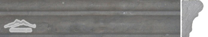"Blue Elegant Limestone France Ogee 1-3/4"" x 12"" Molding Honed"