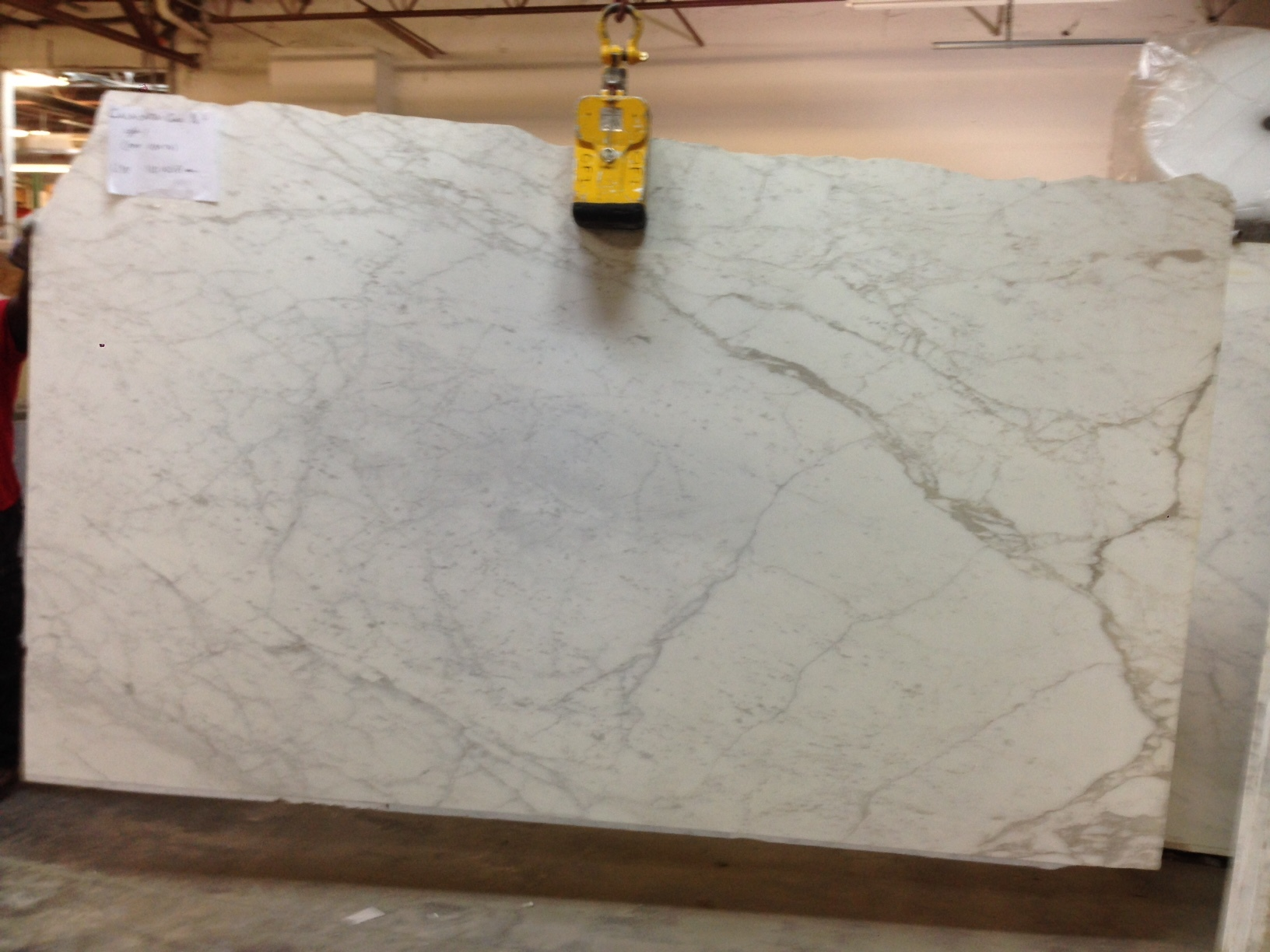 "Calacatta Gold Marble 3/4"" Slab Polished"