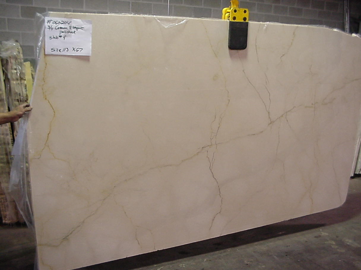 "Cream Elegant Marble 1-1/4"" Slab Polished"