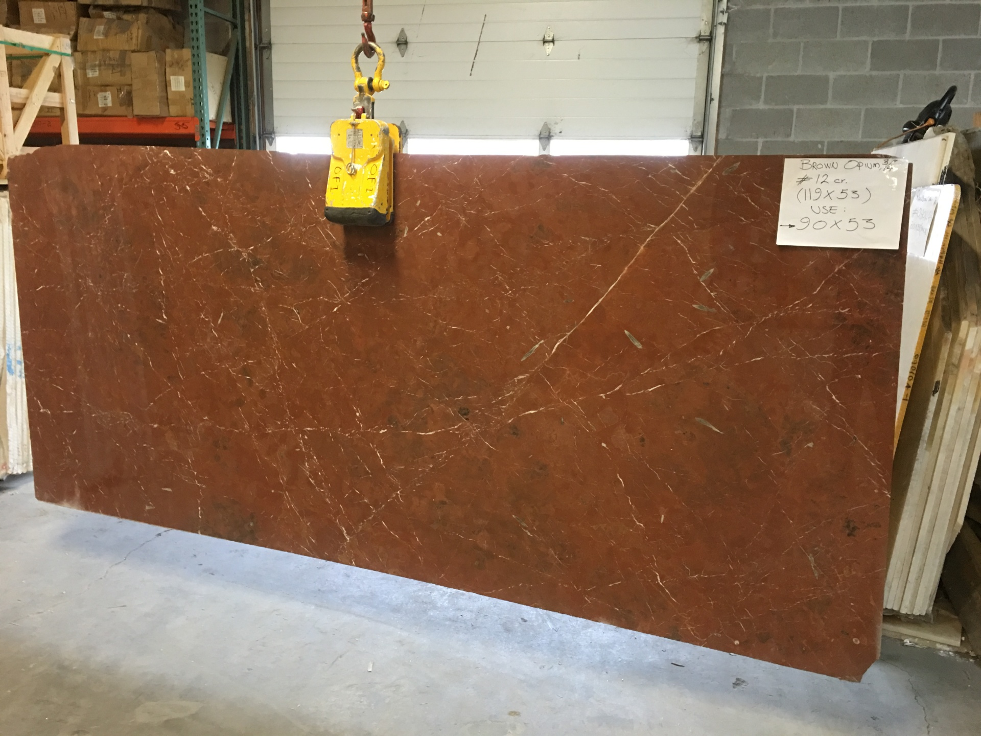 "Opium Brown 3/4"" Polished Marble Slabs  (Many Slabs Available, Inquire)"