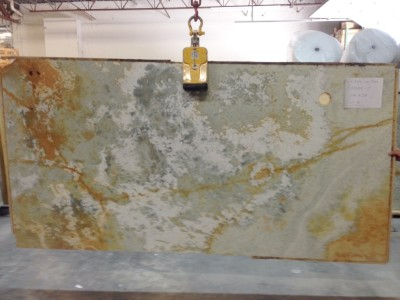 "Blue Aqua Gold Onyx 3/4"" Slab Polished (Check on Availability)"