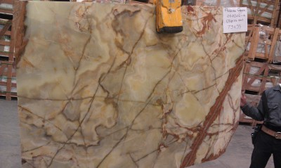 "Green Persian Olive 3/4"" Slab (Inquire on Availability)"