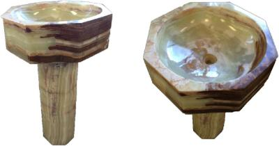 Lt. Green Onyx Pedestal Sink# 5 (Inquire on Availability)