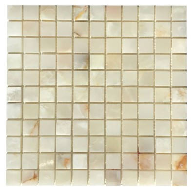 "White Persian Vanilla 1"" x 1"" Mosaic Polished"