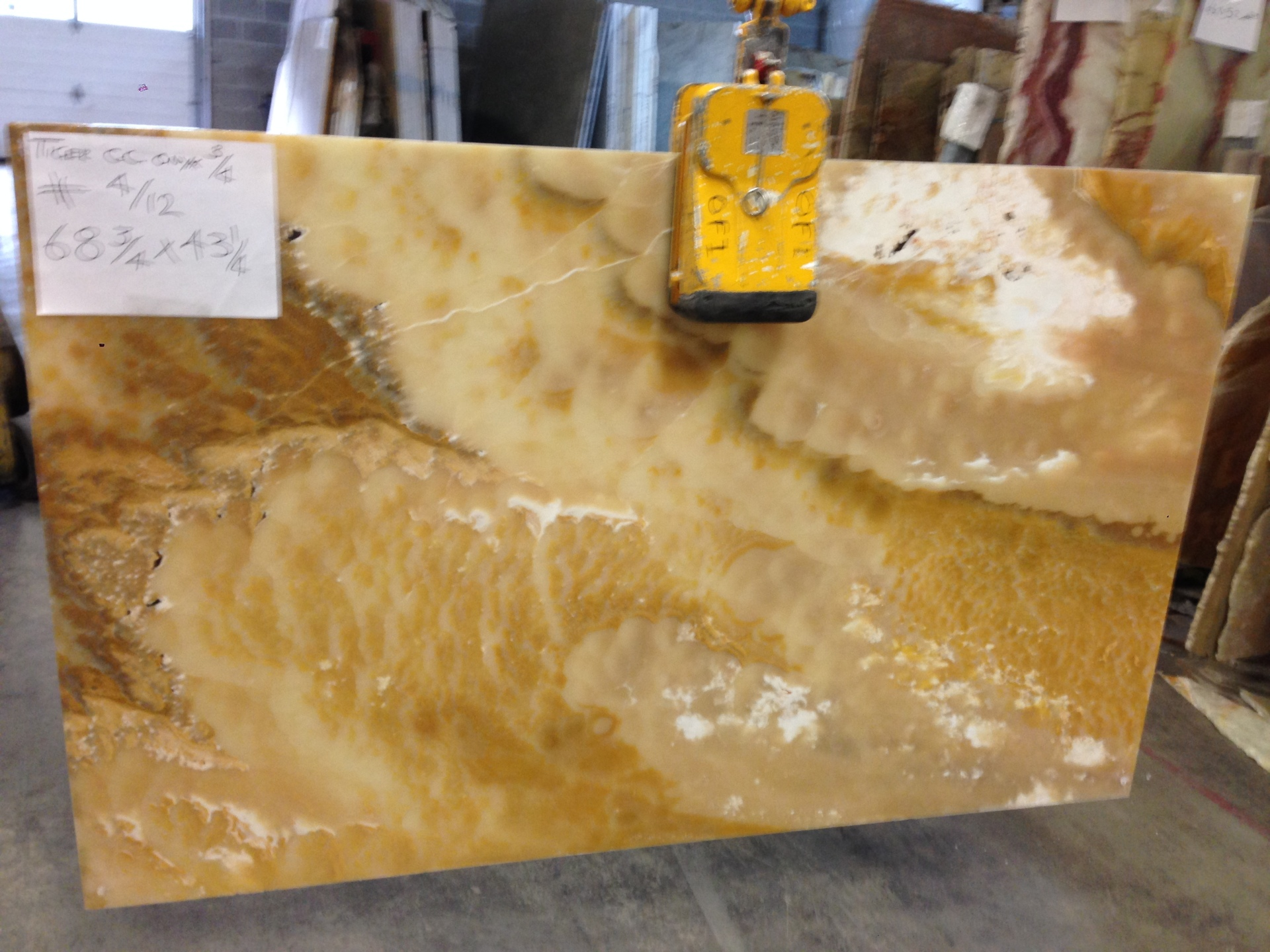 "Tiger 3/4"" Cross-Cut Polished Onyx Slabs"
