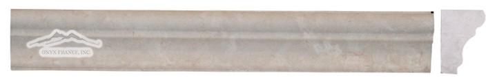 "Botticino Marble France Ogee 1-3/4"" x 12"" Honed Molding"