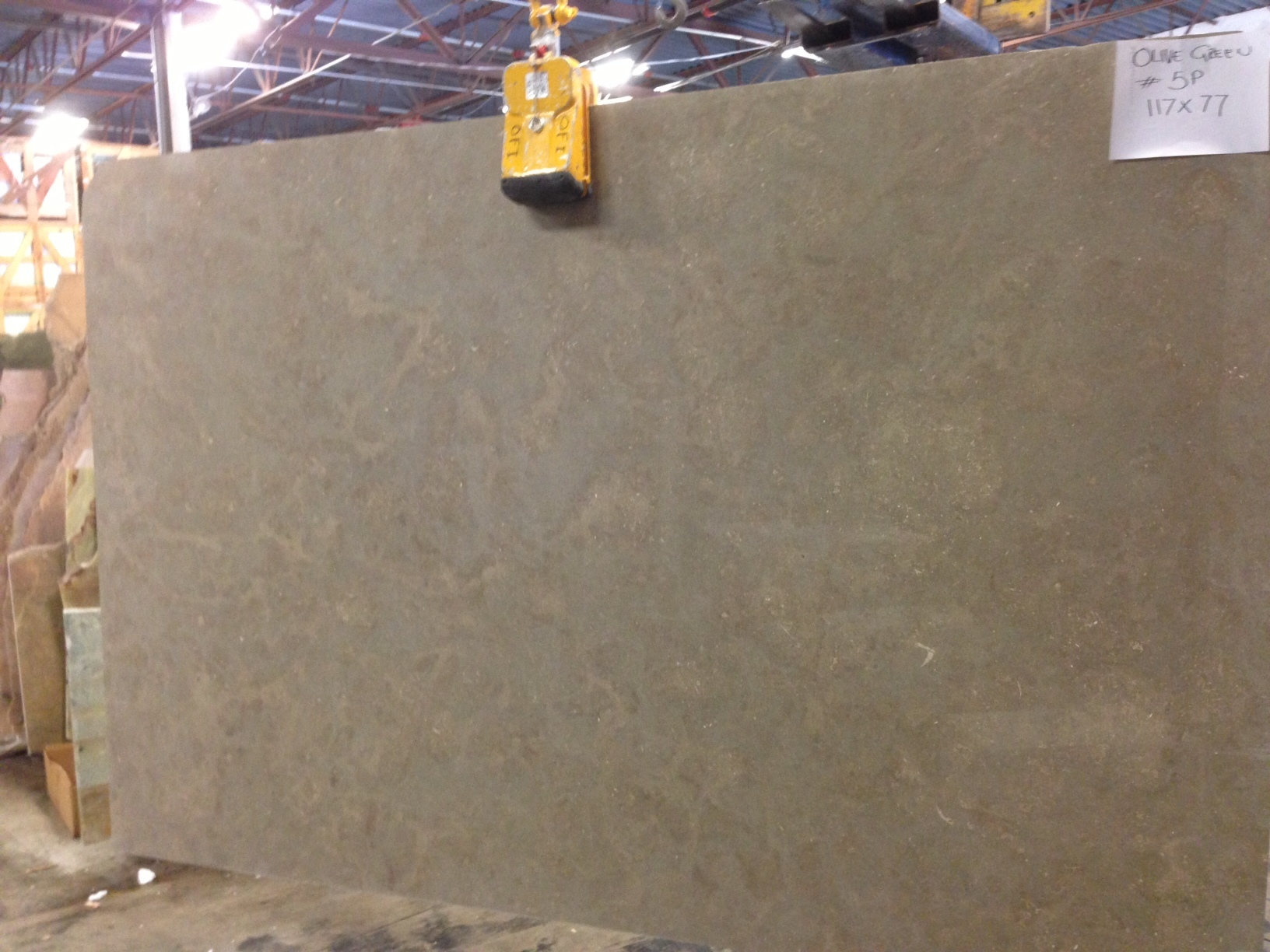 "3/4"" Slab Olive Green Limestone Polished (check on availability)"
