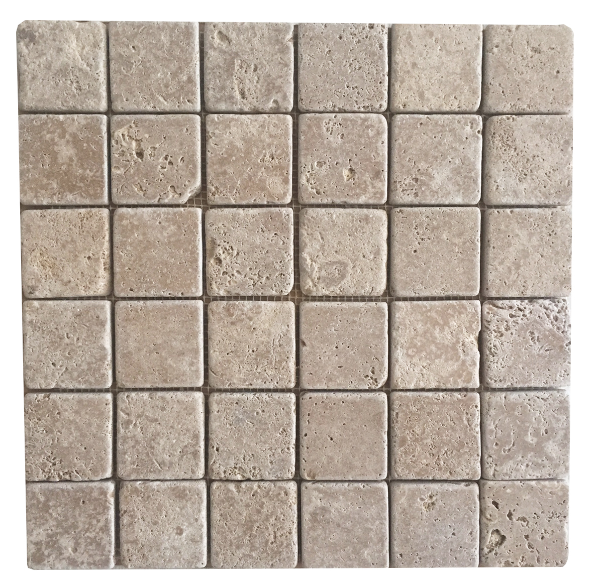 "Noce Travertine 2"" x 2"" Mosaic"