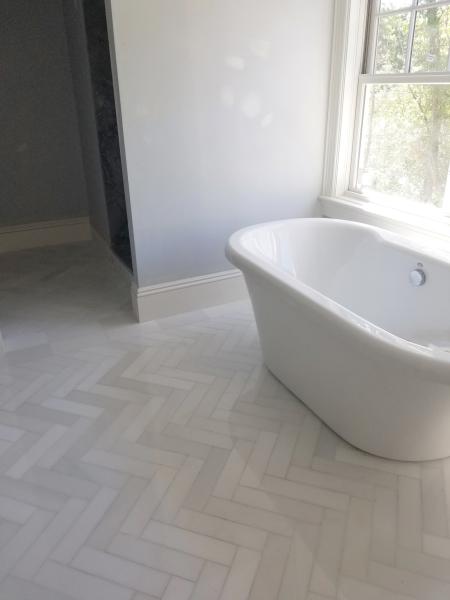 "3"" x 12"" White Silk Marble Floors"