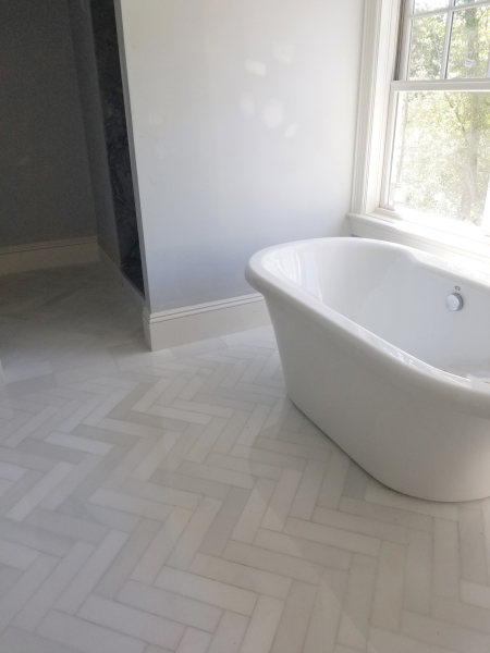 "3"" x 12"" White Silk Marble Floors"