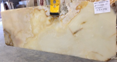 "White Persian Vanilla 3/4"" Polished Onyx Slabs, Lot# 030202 (More Slabs Available, Inquire)"