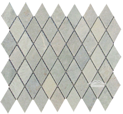 "Harlequin 1-3/8"" x 2-3/4"" Ming Green Marble Tumbled (Also Avail: Polished)"