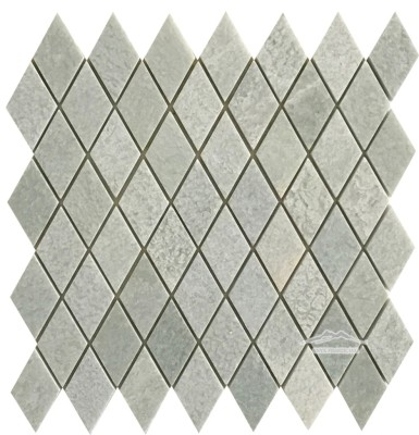 "Ming Green Harlequin: 1-3/8"" x 2-3/4"" x 3/8"" Mosaic Polished"