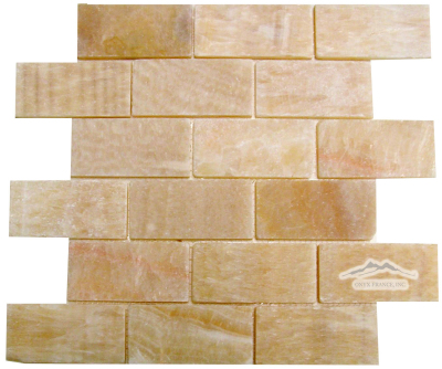 "Golden Honey Onyx 2"" x 4"" Mosaic Tumbled"