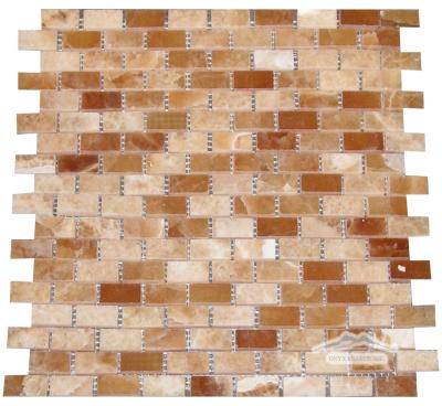 "Mini-Brick 5/8"" x 1-1/4"": Caramella Onyx Polished"