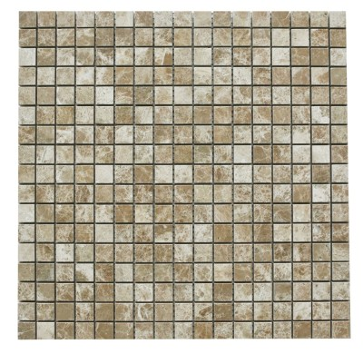 "Light Brown Emperador 5/8"" x 5/8"" Mosaic Polished Mosaic"