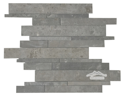 Waterfall Multi-size Mosaic: Blue Lagoon Limestone Honed
