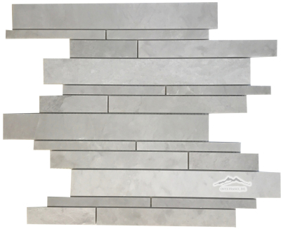 Silver Pearl Marble Waterfall Multisize Mosaic Honed