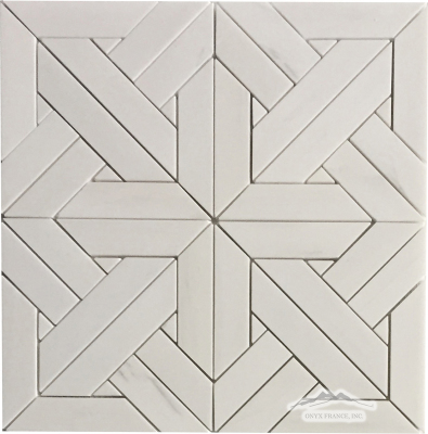 White Elegant SELECT Parquet Mosaic Polished