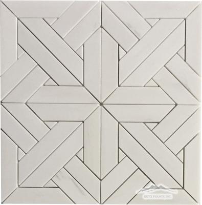 Parquet 2. White Elegant Marble Mosaic Polished