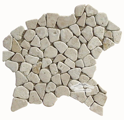 Riverstone Mosaic : Aztec Travertine Tumbled