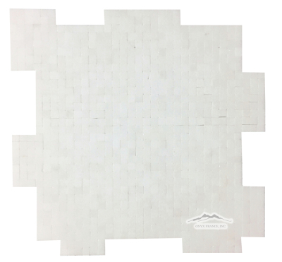"White Thassos Marble 3/8"" x 3/8"" INTERLOCKING Mosaic"