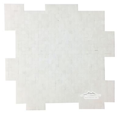 "White Thassos Marble 3/8"" x 3/8"" INTERLOCKING Mosaic"