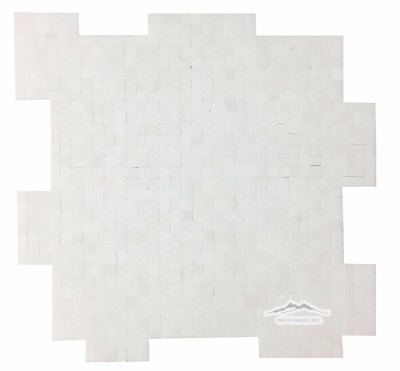 "White Thassos Marble 3/8"" x 3/8"" INTERLOCKING Mosaic Polished"