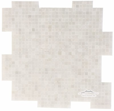 "White Silk 3/8"" x 3/8"" INTERLOCKING Mosaic Polished"