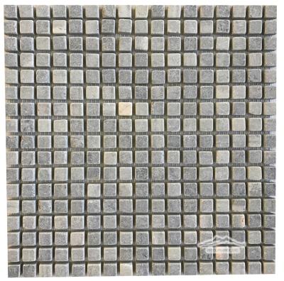 "Verde Laguna Marble 5/8"" x 5/8"" Mosaic Tumbled"