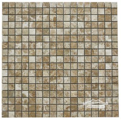 "Light Brown Emperador Marble 5/8"" x 5/8"" Mosaic"